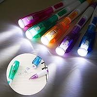 DuoYing多機能Ledライトクリエイティブボールペンパーティー好き子供子供のおもちゃのギフト快適な学校のオフィスのために保持するランダムな色1PCS