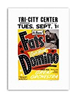 Music Concert Fats Domino Orchestra Music Canvas Art Print