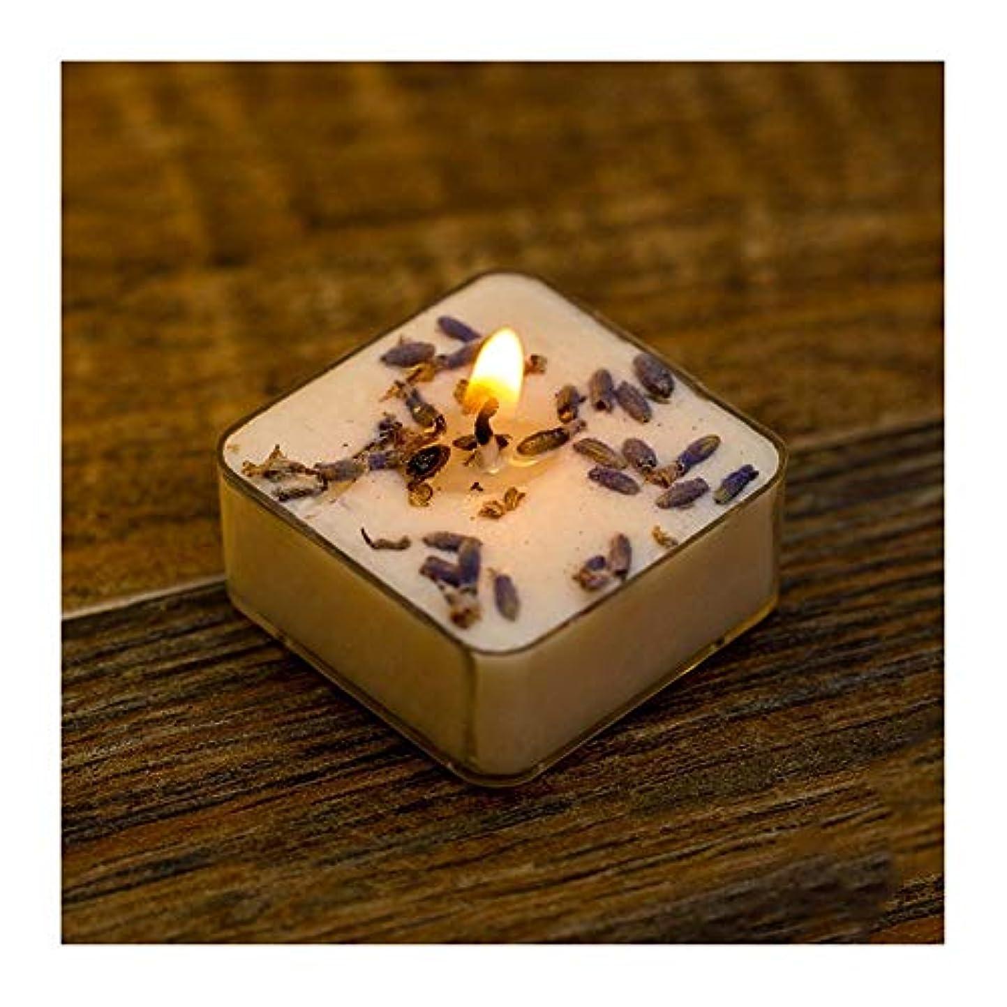 レパートリー艶意識Guomao 無煙アロマキャンドル手作りのカスタムロマンチックな結婚誕生日の雰囲気のラベンダーフレーバーキャンドル (色 : Green tea)