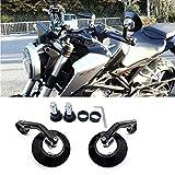 バイクミラー バイク バーエンドミラー ハンドルミラー 汎用ミラー YAMAHA MT-07 MT-03 SUZUKI GSX-S1000F HONDA NC700 Kawasakiなど(丸形)シルバー