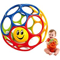 Naovio Baby Rattle Ball Toy Colorful Newborn Hand Catch Shaker Bell Ring Teether [並行輸入品]