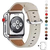 WFEAGL for Apple Watch バンド,は本革レザーを使い、iWatch Series 3、Series 、Series 1、Sport、Edition向けのバンド交換ストラップです (38mm, アイボリーホワイト)