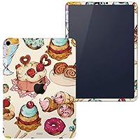 igsticker iPad Pro 12.9 inch インチ 対応 2018年 シール apple アップル アイパッド 専用 A1876 A1895 A1983 A2014 全面スキンシール フル タブレットケース ステッカー 保護シール 008480 ラブリー お菓子 スイーツ イラスト カラフル