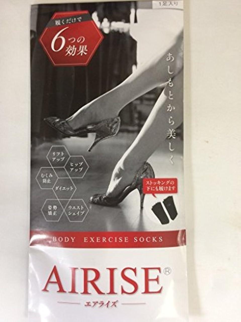珍味麻酔薬件名AIRISE(エアライズ) BODY EXERCISE SOCKS (ベージュ)