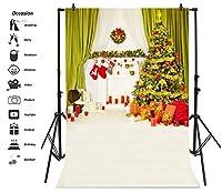 leyiyi 8x 10ft写真バックドロップモダン部屋デザインメリークリスマス背景キャンドルLuxryカーテンPineギフト暖炉Wreath Sockカーペットレンガ壁フォトPortraitビニールビデオStudio Prop