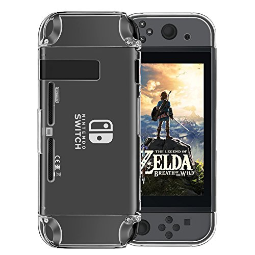 Nintendo Switch ケース, Findway Nintendo Switch専用の保護ケース 対応 落下 耐久性 衝撃 吸収 [ 全面 クリア ] ウルトラ 用 耐衝撃 カバー (Nintendo Switch 周辺機器・アクセサリ, クリスタル・クリア)
