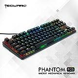 Tecware Phantom 87 Key Mechanical Keyboard RGB led Outemu BROWN Switch