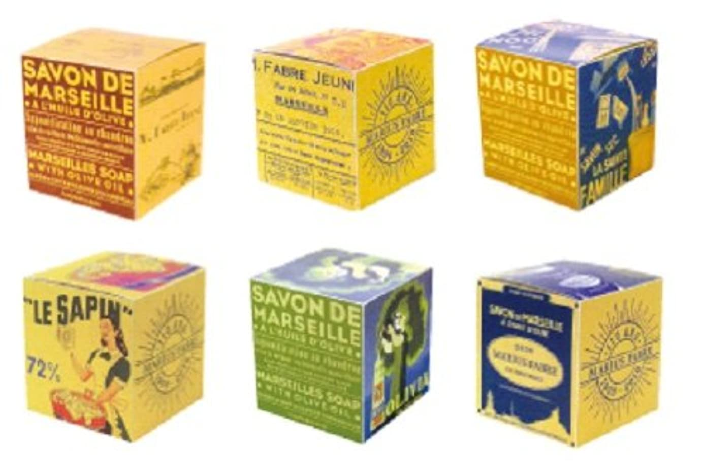 酸化する膨らませる感謝するマリウスファーブル サボンドマルセイユBOXオリーブ200g(箱の柄のご指定はできません)