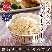 発芽玄米 無農薬・無化学肥料栽培 無農薬ミルキークイーン「頂」限定米 3kg 真空パック 米・食味鑑定士認定米