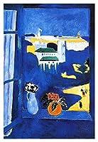 手作り 油絵 Henri Matisse タンジールの窓 - 60X90 cm 静物画 キャンバス 木枠なしWindow At Tangier 複製画 ポスターフォーヴィスム(野獣派) アート