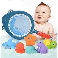 ダイビングとネット子供の釣りのおもちゃのセットをキャッチ6枚 - おもちゃのバスタイム