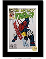 CreativePF [IB8H-8x12bk-w] Collectors Art Comic Book Frame with White Mat Insert for 6.6x10.1 Comic w/ Easel Stand and Wall Hanger [並行輸入品]