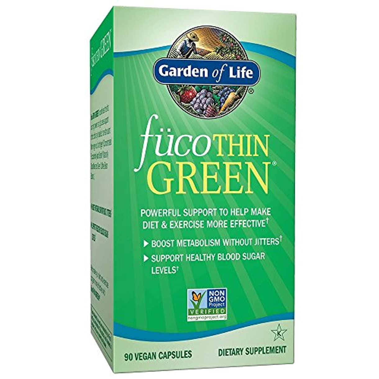 公爵夫人不忠骨折海外直送品Garden of Life Fucothin Green, 90 Caps