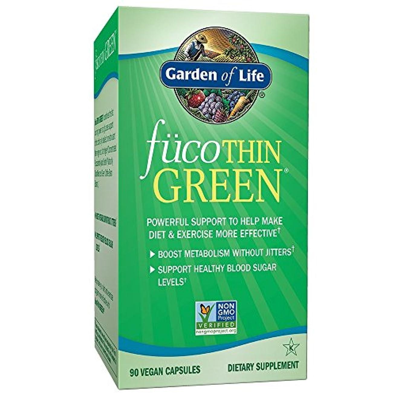 ゲートフェデレーション汚い海外直送品Garden of Life Fucothin Green, 90 Caps
