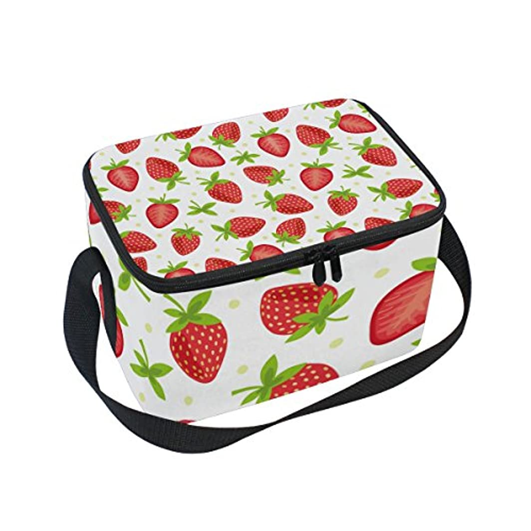 作家鉛ジョットディボンドンクーラーバッグ クーラーボックス ソフトクーラ 冷蔵ボックス キャンプ用品 イチゴ柄 ドット 保冷保温 大容量 肩掛け お花見 アウトドア