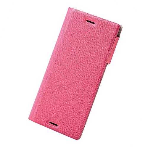 エレコム Xperia XZs ケース ( Xperia XZ 対応) 手帳型 イタリアンレザー ケース カバー スリム設計 マグネットフラップ Coronet ピンク PM-XXZSPLFILMPN