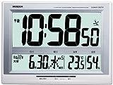 CASIO (カシオ) 掛け時計 WAVE CEPTOR ウェーブセプター 電波時計 温度表示 湿度表示 六曜カレンダー 特大表示画面 IDC-600NJ-7JF