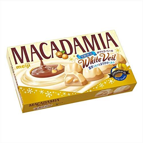 明治 マカダミアチョコレートホワイトベール 9粒 ×10箱