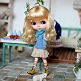 ラコステ ダウン (ドーリア)Dollia ブライス 1/6ドール用 アウトフィット ツイスト ケーブル ニット カーディガント 服 ネオブライス ドール 人形 (ブルー)
