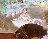 Edgar Degas - バレエBallet パステル画 キャンバス 木枠なし 60X50cm - 踊り子. 舞姫複製画 完全に立体に複製 3D 印刷 美術品 部屋 壁掛け