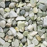 天然石 玉石砂利 1-2cm 60kg グラスグリーン (ガーデニングに最適 緑色砂利)