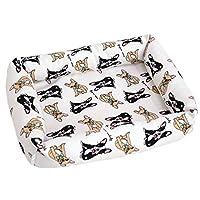 可愛い ペットベッド ワンチャン ネコチャン マット両面兼用 夏 ペットクッション オックスフォード&メッシュ 良質 耐噛み 毛がつきにくい 洗える 滑りにくい 撥水 犬猫兼用 Sサイズ Mサイズ Lサイズ