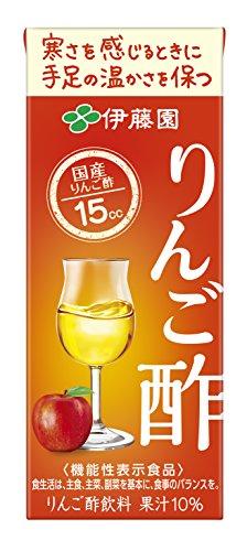 伊藤園 りんご酢(紙パック) 200ml ×24本 [機能性表示食品]
