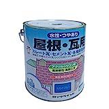 ロックペイント 水性屋根・瓦用シリコン塗料 銀黒C 3L H70-3033-02