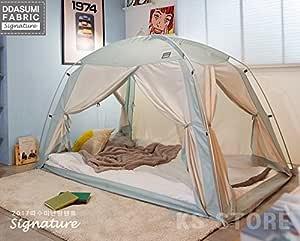 タスミ暖房テント ファブリック シグネチャー 1~2人用 (室内専用暖房テント) Single Bed Size (ミント)