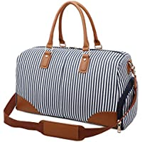Gimay Weekend Travel Bag Women Overnight Duffle Canvas Tote Bags