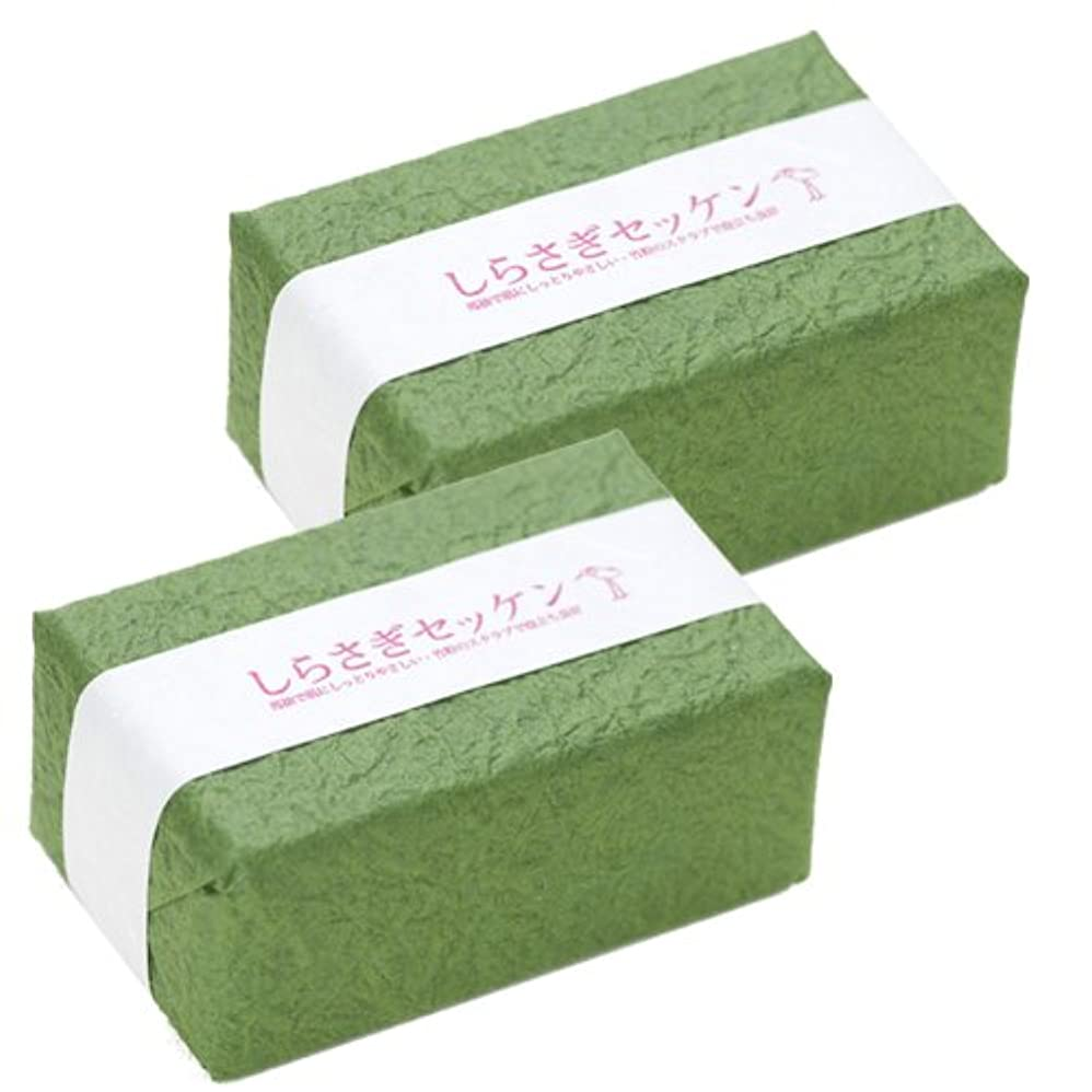 代数的どうやらサイレントしらさぎ化粧品 しらさぎセッケン ラベンダー&ローズウッド セット 90g×2個