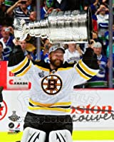 Tim Thomas - holding the 2011 Stanley Cup Trophy - NHL 8x10 Photo (Boston Bruins)