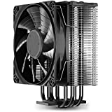 DEEP COOL GAMMAXX GTE V2 Black, CPU Air Cooler with 4 Heatpipes, Black Top Cover with Logo, Black Fins and Fan, 120mm PWM Fan