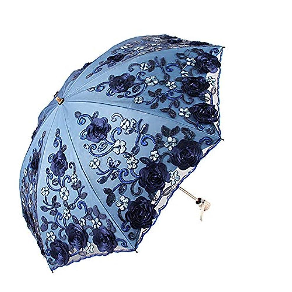 物思いにふけるバット保育園傘の二重層のレースの傘の刺繍傘の黒いプラスチックの抗Uv傘の傘の太陽の傘の20%