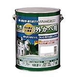 アトムハウスペイント 水性外かべ用塗料  3L 白