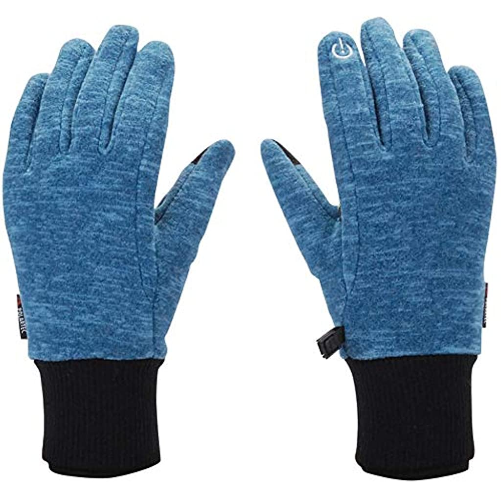 前者虚弱信頼男性と女性の冬の暖かいフリースポイント指のタッチスクリーン滑り止めアウトドア手袋