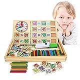 BATTOP 知育玩具 数え棒 算数おもちゃセット 両面利用可  小学生教育玩具 木製おもちゃ ボックス入り