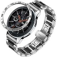 Galaxy Watch 46mm / Gear S3 Band + Bezel, TRUMiRR 22mm Ceramic & Stainless Steel Watchband + Bezel Ring Quick Release Strap Bracelet for Samsung Galaxy Watch 46mm (SM-R800) / Gear S3 Frontier Classic