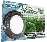 Miracle LED 604338Spectrum 90–305V 180W高ベイフルデイライトGrowlite for ProfessionalインドアGardens ,ホワイト