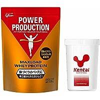 Glico(グリコ)Kentai(ケンタイ) グリコ マックスロードホエイプロテイン1.0kg チョコレート味+Kentaiプロテインシェーカーセット G76012-K005