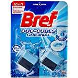 Bref Duo Cubes Original, In Cistern Toilet Cleaner, Blue Water, 2x50g