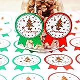 creve クリスマス ラッピング ラベル ギフト シール (96枚 クリスマスツリーツリー2種 4.0×3.0cm)