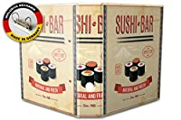 バインダー 2 Ring Binder Lever Arch Folder A4 printed Sushi bar