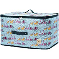 大型保管袋漫画動物のパターンオックスフォード布防水水分補給ポータブル高品質の旅行の主催者羽毛布団の掛け布団仕上げ荷物の収納袋 (サイズ さいず : 50 * 35 * 30cm)