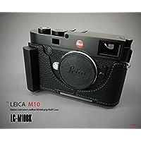 【日本正規販売店】LIM'S Italian Genuine Leather Metal grip Half Case for Leica M10 LC-M10BK Black ブラック ライカ M10用 イタリアンレザー カメラケース メタルグリップ プレート 高級 高品質 本革 おしゃれ かっこいい リムズ