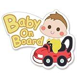 【Babystity】 赤ちゃん乗っています Baby On Board マグネット ステッカー サイン (ステッカー(外貼り))