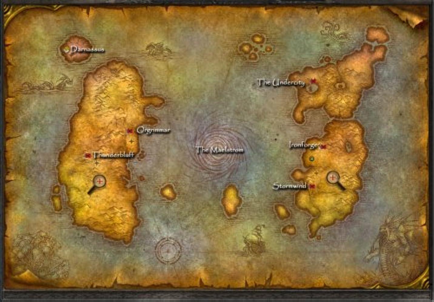 朝食を食べるクライマックスこねるThe World of Warcraft Two-Sided World Map 24