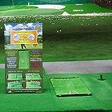 ゴルフマット 練習 ヘッドが触れると色が変わり、ダフリ 軌道がわかる ゴルフ マット 練習場でフルショット、自宅でアプローチ。賢いマット ダウンブローマスター特許・商標出願中