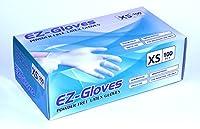 EZ手袋パウダーフリーラテックス手袋(パックof 100) X-Small