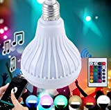 FSLiving 超省エネ多彩音楽ランプ スマートLED音楽電球 / E26口金 7W LED電球 /Bluetooth3.0電球 明暗,多彩な光のパターン切り替え